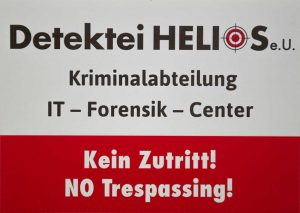 Detektei Helios Schild Kriminalabteilung